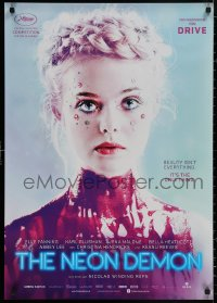 4j0013 NEON DEMON teaser German 2016 Elle Fanning covered in paint, Nicolas Winding Refn!