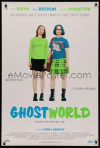 4j0040 GHOST WORLD Swiss 2001 Thora Birch, Scarlett Johansson, Terry Zwigoff directed!