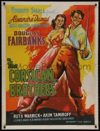 4j0033 CORSICAN BROTHERS Indian R1960s different art of Douglas Fairbanks Jr. & Warrick by Pinto!