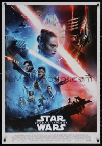 4j0016 RISE OF SKYWALKER Italian 1sh 2019 Star Wars, Ridley, Hamill, Fisher, great cast montage!