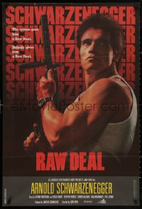 4j0076 RAW DEAL Lebanese 1986 Arnold Schwarzenegger w/ wild hair style not seen in the film!