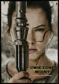 4j0018 FORCE AWAKENS teaser DS Polish 27x39 2015 Star Wars: Episode VII, close-up of Ridley as Rey!