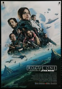 4j0003 ROGUE ONE advance DS Latin American 2016 Star Wars, Felicity Jones, rare Yavin 4 design!