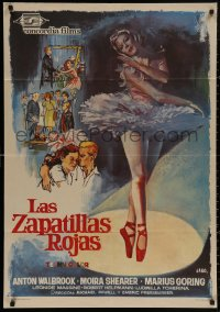 4j0044 RED SHOES Spanish R1966 Michael Powell & Emeric Pressburger, different ballet art by Jano!