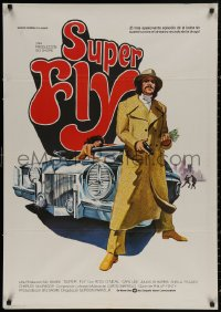 4j0045 SUPER FLY Spanish 1980 great art of Ron O'Neal with car & girl, Gordon Parks Jr.