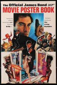 4k0039 OFFICIAL JAMES BOND 007 MOVIE POSTER BOOK English softcover book 1987 full-page & full-color!