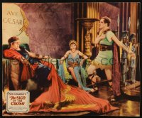 4k0012 SIGN OF THE CROSS jumbo LC 1932 Fredric March, Claudette Colbert & Charles Laughton, DeMille!