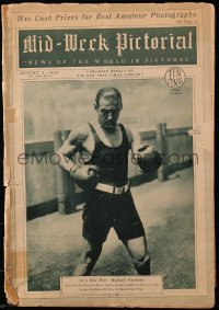 4k0026 NEW YORK TIMES magazine section Aug 5, 1926 Rudolph Valentino boxing before his passing!