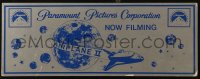 4k0004 AIRPLANE II 6x16 production soundstage/set sign 1982 different art of space shuttle, rare!