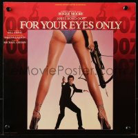 4k0025 FOR YOUR EYES ONLY music album flat 1981 Roger Moore as James Bond 007 between sexy legs!