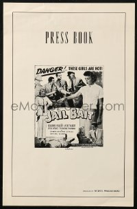 4k0056 JAIL BAIT pressbook 1954 Ed Wood cult classic, the man can't be far away from Dolores Fuller!