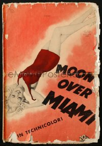 4k0058 MOON OVER MIAMI pressbook 1941 Don Ameche, Bob Cummings, art of sexy Betty Grable by Vargas!