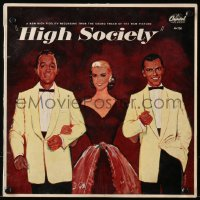 4k0042 HIGH SOCIETY soundtrack record 1956 Frank Sinatra, Bing Crosby, Grace Kelly, great songs!