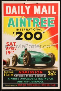 4k0038 AINTREE INTERNATIONAL 200 13x19 English special poster 1958 Stirling Moss won in Cooper T45!
