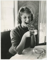4m0001 SOPHIA LOREN French 8.25x10.75 still 1967 great close-up smoking and drinking coffee!