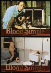 4m0008 BLOOD SIMPLE 2 Greek LCs 1985 Joel & Ethan Coen, Frances McDormand, cool film noir images!