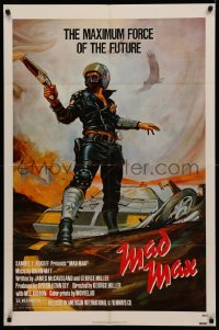 4m1020 MAD MAX 1sh 1980 George Miller post-apocalyptic classic, different art of Mel Gibson!