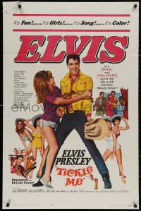 4m1281 TICKLE ME 1sh 1965 Elvis Presley is fun, way out wild & wooly, spooky & full of joy and jive!