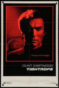 4m1282 TIGHTROPE 1sh 1984 Clint Eastwood is a cop on the edge, cool handcuff image!