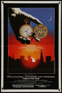 4m1283 TIME AFTER TIME 1sh 1979 Malcolm McDowell as H.G. Wells, David Warner as Jack the Ripper!
