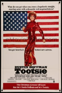 4m1291 TOOTSIE advance 1sh 1982 this Christmas everyone will know she's Hoffman and he's Tootsie!