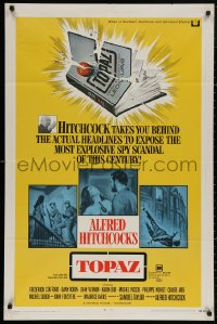 4m1294 TOPAZ 1sh 1969 Alfred Hitchcock, John Forsythe, explosive spy scandal of this century!