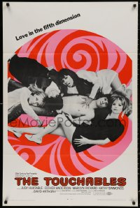 4m1299 TOUCHABLES 1sh 1968 Judy Huxtable in five-way love, psychedelic love in the fifth dimension!