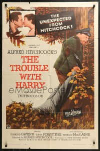 4m1303 TROUBLE WITH HARRY 1sh 1955 Alfred Hitchcock, John Forsythe, Shirley MacLaine, Gwenn