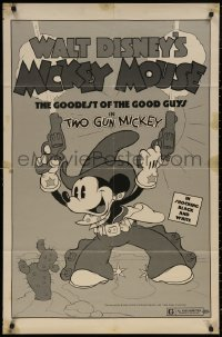 4m1305 TWO GUN MICKEY 1sh R1974 Disney's cowboy western Mickey Mouse, the goodest of the good guys!