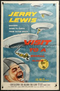 4m1319 VISIT TO A SMALL PLANET 1sh 1960 wacky alien Jerry Lewis saucers down to Earth from space!