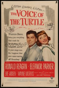 4m1320 VOICE OF THE TURTLE 1sh 1948 smiling Ronald Reagan & Eleanor Parker back-to-back, ultra rare!