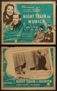 4m0029 NIGHT TRAIN TO MUNICH 8 Aust LCs 1941 Carol Reed directed, Margaret Lockwood & Rex Harrison!
