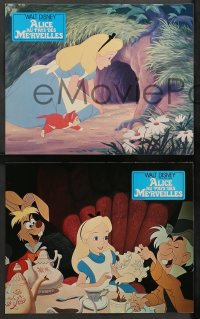 4m0067 ALICE IN WONDERLAND 7 French LCs R1970s Walt Disney Lewis Carroll classic, different images!