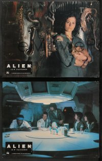 4m0054 ALIEN 9 style A French LCs 1979 Ridley Scott sci-fi classic, different Weaver and cast!
