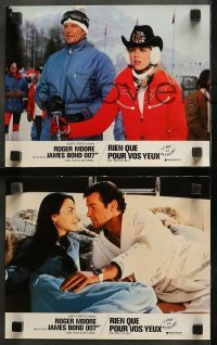 4m0030 FOR YOUR EYES ONLY 18 French LCs 1981 Roger Moore as James Bond, some different images!