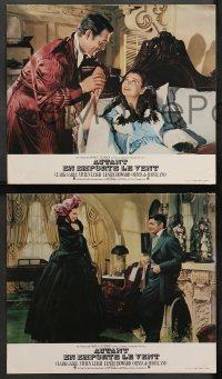 4m0073 GONE WITH THE WIND 6 French LCs R1970s Clark Gable, Vivien Leigh, Leslie Howard, de Havilland!