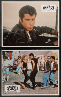 4m0032 GREASE 16 French LCs 1978 John Travolta & Olivia Newton-John in a most classic musical!