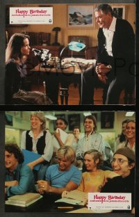 4m0038 HAPPY BIRTHDAY TO ME 12 French LCs 1981 Melissa Sue Anderson, Glenn Ford in slasher!