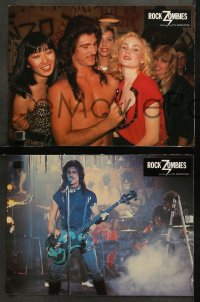 4m0039 HARD ROCK ZOMBIES 12 French LCs 1984 they came from the grave to rock n' rave & misbehave!