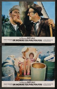 4m0045 IT'S A MAD, MAD, MAD, MAD WORLD 11 French LCs 1964 completely different image, rare!
