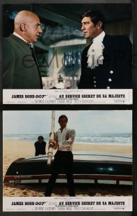 4m0053 ON HER MAJESTY'S SECRET SERVICE 9 style B French LCs 1970 George Lazenby's appearance as Bond!