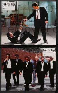 4m0064 RESERVOIR DOGS 8 French LCs 1992 Quentin Tarantino, Harvey Keitel, Steve Buscemi, Chris Penn!