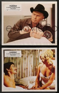 4m0041 WESTWORLD 12 French LCs 1973 Yul Brynner, Richard Benjamin, James Brolin, Michael Crichton!