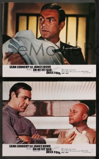 4m0065 YOU ONLY LIVE TWICE 8 French LCs R1970s Connery as James Bond, some different images!