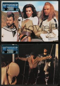 4m0076 NEW BARBARIANS 24 German LCs 1984 Fred Williamson, Metropolis 2000, great images!