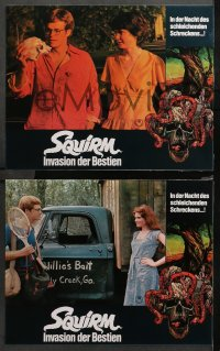 4m0079 SQUIRM 21 German LCs 1976 it was the night of the crawling terror, wild worm images!