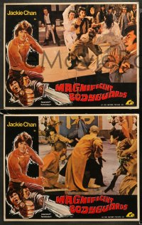 4m0009 MAGNIFICENT BODYGUARD 8 Hong Kong LCs 1982 cool 3-D kung fu artwork, Jackie Chan!