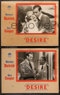 4m0004 DESIRE 6 Canadian LCs 1936 Gary Cooper & Marlene Dietrich, completely different images!
