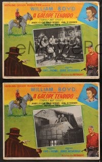 4m0026 UNEXPECTED GUEST 6 Mexican LCs R1950s William Boyd as Hopalong Cassidy in action!