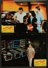 4m0019 AMERICAN GRAFFITI 12 Spanish LCs 1973 Lucas classic, Richard Dreyfuss, Ron Howard, Le Mat!